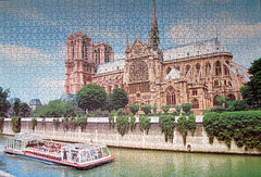 Notre Dame, Paris (pefkosmad) Tags: paris church exterior cathedral hobby notredame puzzle leisure jigsaw complete pastime 1000pieces
