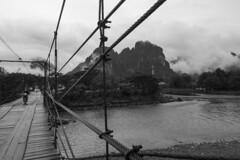 A bridge back in time ( YoungAdventure) Tags: laos karst lao vangvieng vang vieng
