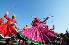 DSC_4133 (rajashekarhk) Tags: blue red india beauty festival dance folkart colours desert performance culture tradition rajastan traditionaldance rajastani hkr rajashekar