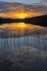 Sunset (Kari Siren) Tags: sunset sun lake finland evening serene jaala karijarvi