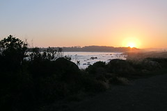 Sunset at San Simeon (Campy Only) Tags: california bicycling coast ride bigsur hwy1