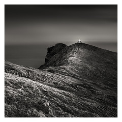 Kalsoy Lighthouse (mike-mojopin) Tags: longexposure sea blackandwhite lighthouse faroeislands kalsoy