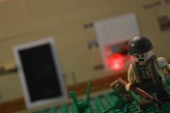 Ambush! (Main) ([-Mossie-]) Tags: fun gun lego action run cb bun ton garand kbye pewpew brickarms