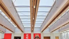 Renzo Piano Pavilion (--v) Tags: light red museum architecture design louvre interior entrance atrium renzo