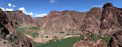 Two Bridges (waubrey_art) Tags: coloradoriver grandcanyon hiking