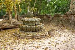 At Ta Som temple near Siem Reap, Cambodia (UweBKK ( 77 on )) Tags: park history religious temple ancient ruins asia cambodia kambodscha buddha sony faith religion buddhism siem reap som historical southeast alpha dslr angkor hindu hinduism ta archeology 77 slt archeological tasom