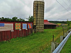 ~ Storms Clouds Roll Across The Valley ...  (H.F.F) (~ Cindy~) Tags: clouds barn farm country shed august silo explore quilts storms archived 2015 fencehff