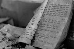 Open book (andrea.sereno82) Tags: white black abandoned book open decay libro forgotten e bianco nero documento zone interni testo chernobyl exclusion scrittura aperto abbandonato macerie pripyat cirillico