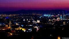 Puebla de noche (shiscoco) Tags: urban atardecer luces noche nocturna crepusculo puebla iluminacion
