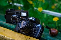 Nikon F-801 + Jupiter 9 85mm lens (Andrey  B. Barhatov) Tags: mood oldstyle cameras cameraporn cameracollection nikonf801 barhatovcom