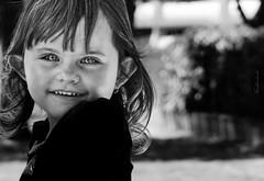 Looking to the future (Keulkeulmike Photography) Tags: bridge portrait bw black girl smile portraits kid noir fuji child looking little future looks childrens fujifilm childs enfant fille sourire blanc petite profondeur xs1 keulkeulmike