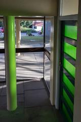 Green glow (Spannarama) Tags: door light green pillar glowing greenlight column greenglass