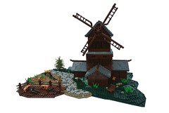 The Nine Kingdoms: Mill (-Balbo-) Tags: lego nine creation vikings rohan moc kingdoms wikinger brandkste
