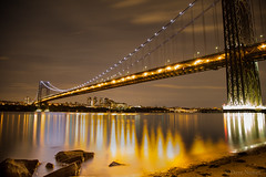 GWB 1 (AnitekPhoto) Tags: new york nyc river lights long exposure peaceful jersey