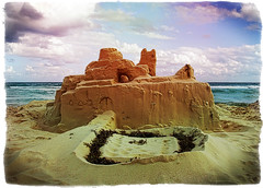 Playa del Carmen Castle - Playa de Carmen - Mexico (D. Pacheu) Tags: summer mer castle mexico vacances sand sable playadelcarmen playa mexique sandcastle plage et chateaudesable