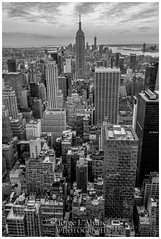 "View of south Manhattan from Rockefellers ""top of the rocks"" (JORGE_DIVE) Tags: empirestate nyc topoftherocks manhattan bw"