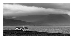 Bleak House (Nick green2012) Tags: blackandwhite house barn landscape iceland 21 bleak desolate