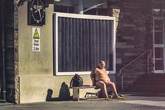 Frogman (Phredla) Tags: speedo frogman d7200 50mm 14 finns frog man swimmer pool side bench water winter fast fit fitness