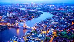 Thames River (talv_ss) Tags: city uk nightphotography travel bridge england urban london architecture night towerbridge buildings nikon cityscape citylife aerial thamesriver viewfromabove travelphotography d610 theshard
