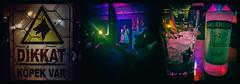The new style of Friday night (Melissa Maples) Tags: cameraphone food black apple sign bar club night turkey dark bottle asia triptych mask drink text trkiye nightclub antalya alcohol vodka smirnoffice iphone trke  kaleii multipanel iphone6 ethnicfun