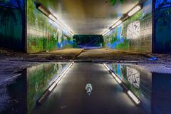 Underpass... (Aleem Yousaf) Tags: morning london art reflections underpass graffiti photo bottle nikon ride east beckton d800 1835mm pedesterian