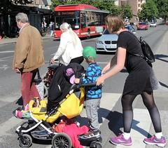 Stockholm street crossing (bokage) Tags: street crossing traffic sweden stockholm pram fridhemsplan bokage