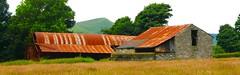 Derelict farm building #Peak District #Derbyshire #red (Leshaines123) Tags: red england colour abandoned field canon photo rust flickr shot decay district patterns derbyshire shapes peak plus bard rule facebook thirds dazzling hillwalking castleton vividandstriking iphone6s