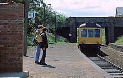 Photo of LMD055 - DMU at Wrexham Exchange Station