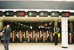 Entrance to Platforms at Charing Cross Station (Matthew Huntbach) Tags: london station railway charingcross