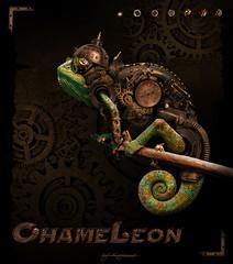 Chameleon (Steampunk) (Kajenna) Tags: art speed photoshop comics creative chameleon steampunk cs5