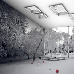 Wonderland (Martin Beaumont) Tags: snow apple photomanipulation 3d render ambient wonderland cgi occlusion