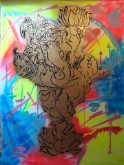 SIR GANESHA (Assi-one) Tags: street india art li ganesha graffitti ke he shiva ram je rte rajasthan ashram namaste pochoir barat schablonen callejero adami pasan pagal hamesha industan assione