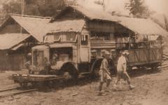 Thailand - Burma Railway -  Rail/road truck (railasia) Tags: thailand reproduction kanchanaburi fourties jir burmarailway metergauge roadrailvehicle