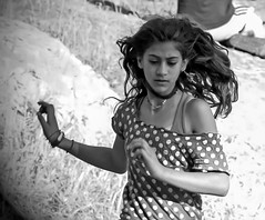 """baby we were born to run"" (ybiberman) Tags: portrait girl hair israel jerusalem earring running"