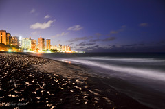 San Juan at Night (startwithz) Tags: longexposure travel sky beach water skyline clouds puerto sand san long exposure waves juan puertorico rico sanjuan pr