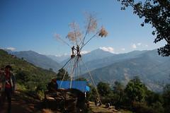 Great veiws on a Multi sport treking Mountain biking rafting kayaking trip in Nepal