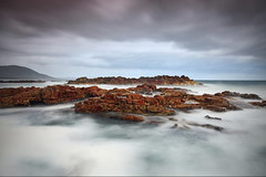 Diamond in the Rough (Tim Donnelly (TimboDon)) Tags: ocean longexposure sunset sea seascape storm colour canon australia le nsw hitech manfrotto waterscape thepowerofnow