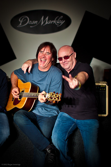 Carl Verhyen (left) and RONNIE MONTROSE (right)