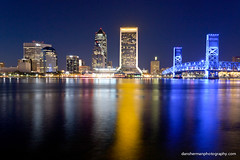 Downtown Jacksonville (Dan Sherman) Tags: city bridge skyline buildings downtown florida bridges citylights jacksonville jacksonvilleskyline downtownjacksonville jacksonvilleflorida danshermanphotographycom