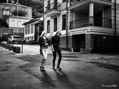 Spontaneous portrait of two young ladies (smuta2006) Tags: street city portrait urban woman apple girl streetphotography ukraine kiev podol spontaneous iphone  podil porusski iphoneography instagramhub igukraine instakiev