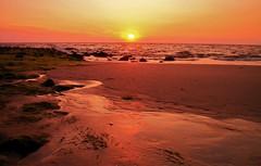 Memory2 (farmspeedracer) Tags: travel sunset sea orange sun beach water germany landscape island evening sand waves mood north memories beam journey memory sylt sunnny
