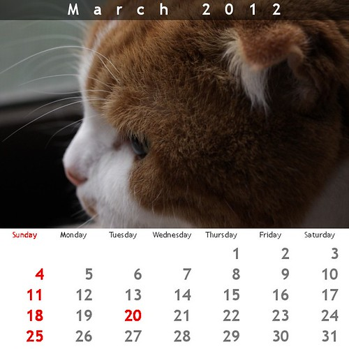 Calendar 2012 (but sorry exclude Jan and Feb :)