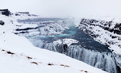 Gullfoss (Ulf Bodin) Tags: snow ice island waterfall iceland gullfoss vattenfall hvt canonpowershots100