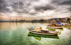 Green sea (Nejdet Duzen) Tags: trip travel sea cloud turkey boat trkiye deniz sandal izmir bulut turkei seyahat urla emealt magicalskies saariysqualitypictures