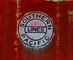 ~ Faded Southern Pacific ~ Extreme Tone Curve Processing (Trail Trekker) Tags: southernpacificlines tonecurve southernpacificrailroad locomotivetrains extremetonecurveadjustment tonecurveprocessing