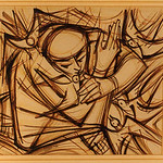 "<b>St. Francis and the Birds</b><br/> Peter Lupori (1918-) ""St. Francis and the Birds"" Ink, 1956 LFAC #1997:08:19<a href=""http://farm8.static.flickr.com/7055/6852456803_8cc7dfcfb2_o.jpg"" title=""High res"">∝</a>"