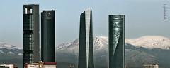 Las Torres hoy (Losrodri) Tags: madrid sky espaa skyline architecture skyscraper arquitectura ciudad olympus cielo e510 madridskyline sierraguadarrama cuatrotorresbusinessarea comunidadmadrid olympuse510 losrodri