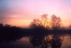 Siltamki 4 am (Mikko L.) Tags: pink film sunrise finland river helsinki siltamki