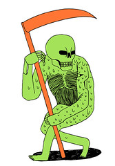 Death with scythe (Jack Teagle) Tags: green rot death decay slime grimreaper scythe
