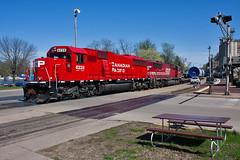 CP 6228 - Windmill Train - Red Wing, MN (John Fladung) Tags: railroad train canadianpacific cp emd redwingmn emdsd60 soo6062 windmilltrain cp6228